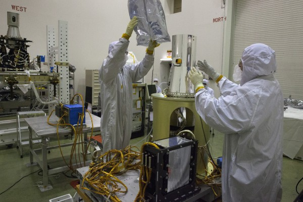 SAGE 111 project in the cleanroom in building 1250 of NASA Langley Research Center